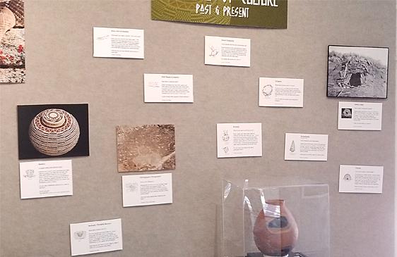 close up of artwork exhibit